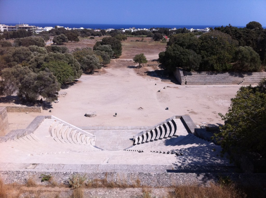 Theater der Akropolis von Rhodos auf dem Berg Monte Smith