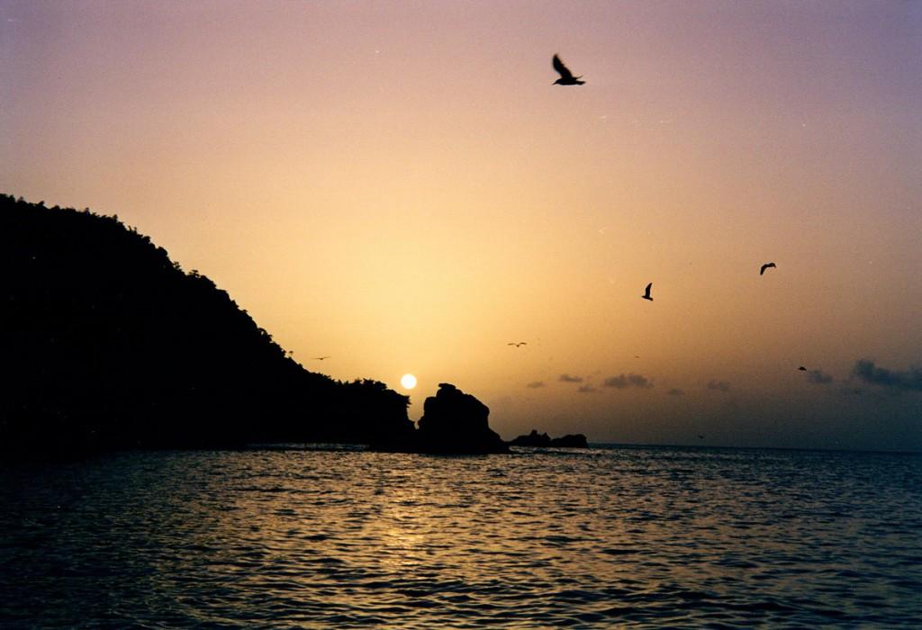 Tobago Sonnenuntergang am Meer