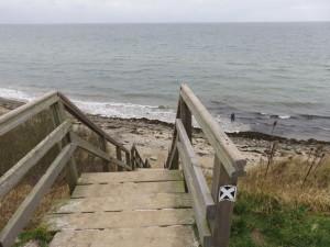 Treppe Steilküste Stohl