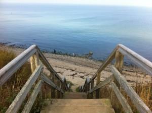 Treppe an der Steilküste Schwedeneck / Stohl in Schleswig-Holstein