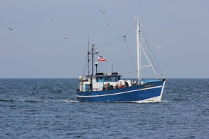 Fischkutter in der Ostsee vor Warnemünde