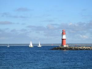 Warnemünde Leuchtfeuer an der Ostsee