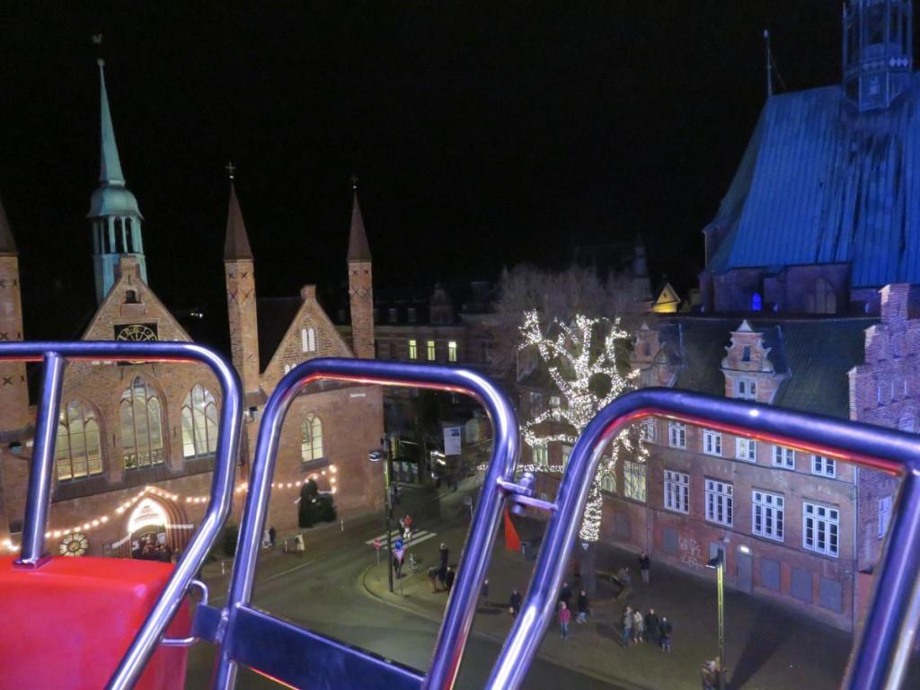 Riesenrad Lübecker Weihnachtsmarkt am Koberg