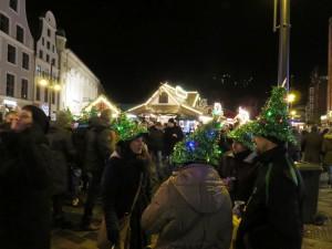 Coole Hüte auf dem Weihnachtsmarkt Rostock