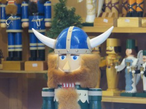 Holz Wikinger auf dem Weihnachtsmarkt