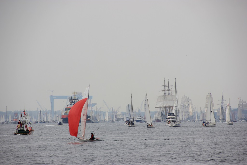 Segelschiffe auf der Kieler Förde, Windjammerparade 2014 zur Kieler Woche am 28. Juni 2014 Höhe Falkensteiner Strand
