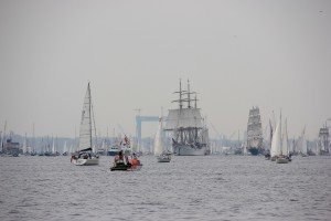 Segelschiffe auf der WIndjammerparade, Kieler Förde am 28.06.2014
