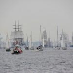 Segelschiffe auf der WIndjammerparade 2014, Kieler Förde am 28.06.2014