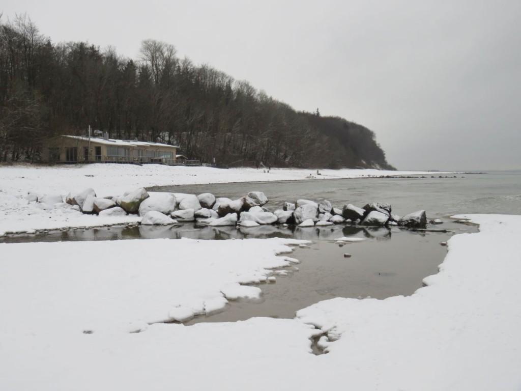 Wintertag am Strand Dänisch-Nienhof