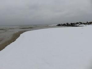 Wintertag am Ostseestrand Dänisch-Nienhof
