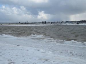 Anleger Falckensteiner Strand an der Kieler Förde