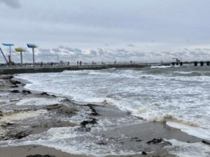 Badestrand Schilksee Sturm Tristan 2021