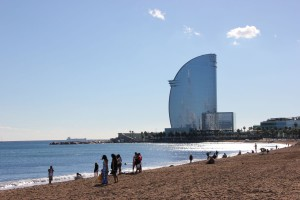 Strand von Barceloneta in Barcelona