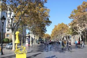 Rambla de Santa Mònica in Barcelona