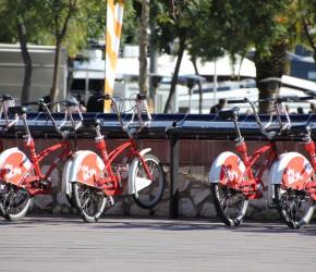 Bicing Barcelona Fahrradverleihstation