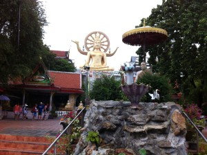 Big Buddha im Wat Phra Yai Tempel Koh Samui in Thailand