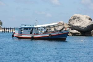 Boot vor Koh Nangyuan
