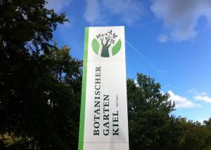 Eingangsbereich Botanischer Garten der Christian-Albrechts-Universität zu Kiel