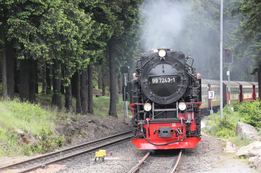 Brockenbahn am Bahnhof Schierke im Harz