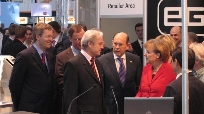 Bundeskanzlerin Angela Merkel auf der CeBIT Hannover