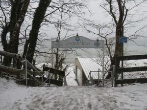 Treppe zum Strand Dänisch-Nienhof am Restaurant StrandHus