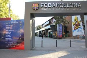 Eingang zum Camp Nou Stadion FC Barcelona