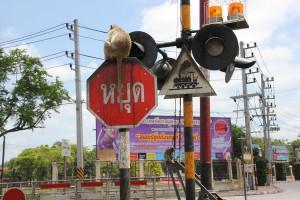 Bahnübergang in Lop Buri