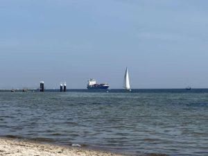 Falckensteiner Strand Schiffe Kieler Förde