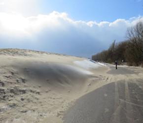 Falckensteiner Strand Sandverwehungen Sturm Irenäus Mitte März 2018