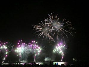 Feuerwerk Ostseestrand Grömitz