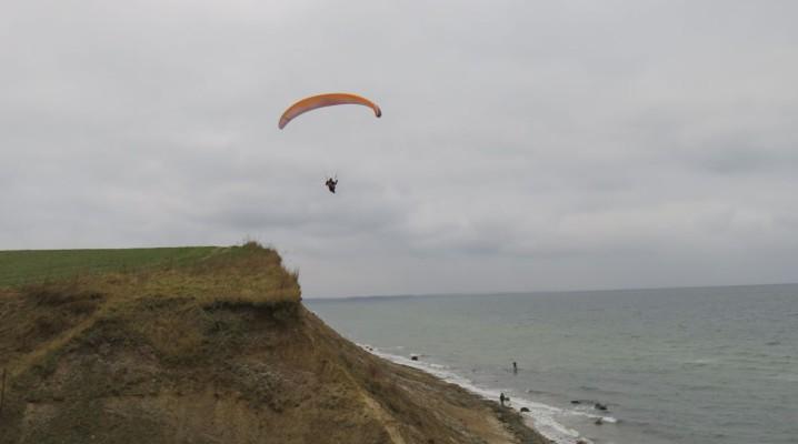 Gleitschirmfliegen Steilküste Stohl