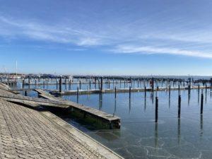 Strande Hafen Liegeplätze Winter