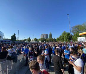 Holstein Kiel - Köln Relegation Fans dem Holstein-Stadion