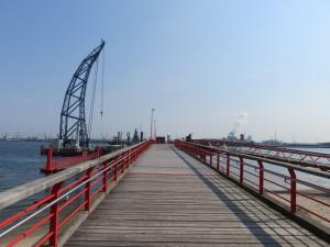 IGA Park Rostock Pier an der Warnow