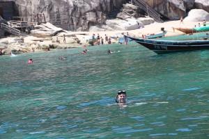 Schnorcheln in der Bucht vor der Insel Koh Tao in Thailand