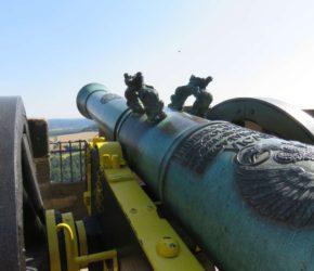 Kanone Festung Königstein - Kartune auf Lafette