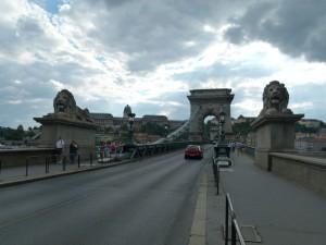 Kettenbrücke Budapest an der Donau