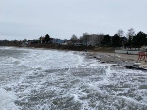 Schilksee Strand Sturm Tristan 2021