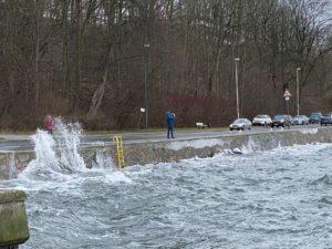 Kiellinie Kiel Hochwasser Sturm Tristan 2021