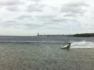 Kitesurfing in Kiel auf der Förde