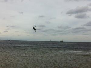 Kitesurfing auf der Kieler Förde