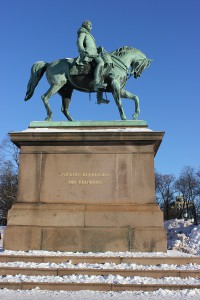 Reiterstatue König Karl Johann, Königliches Schloss Oslo