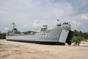 "Altes Kriegsschiff ""Koh Phangan"" in Thong Sala"