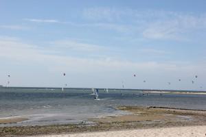 Kite Surfing in Laboe an der Kieler Förde