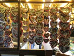 Lebkuchenherzen Weihnachtsmarkt Rostock