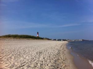 Hörnum Leuchtturm an der Nordsee