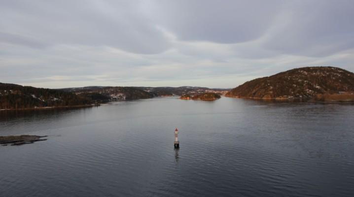 Leuchtturm im Oslofjord in Norwegen