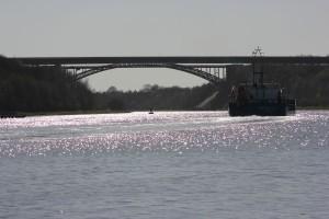 Levensauer Hochbrücke am Nord-Ostsee-Kanal