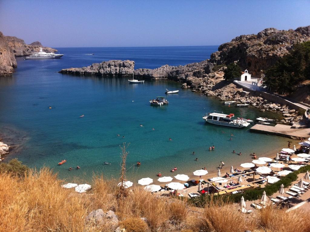Kleine Bucht bei Lindos auf Rhodos