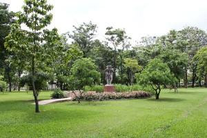 Statue im Lumphini-Park Bangkok